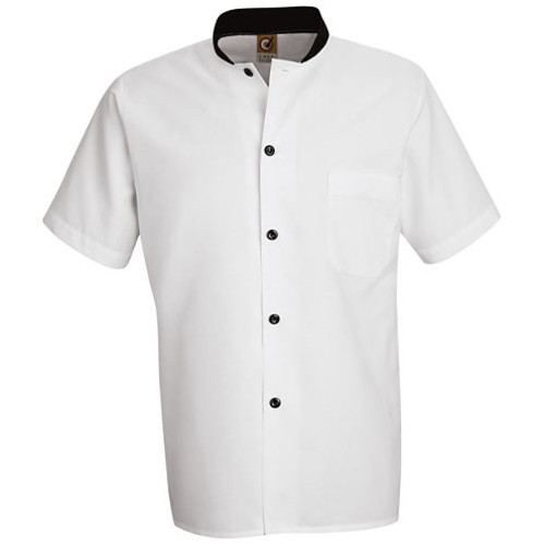Chef Designs BlackTrimmed Cook ShirtBig & Tall