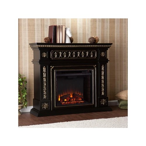 Southern Enterprises Donovan Electric Fireplace - Black FE9661 Fireplace