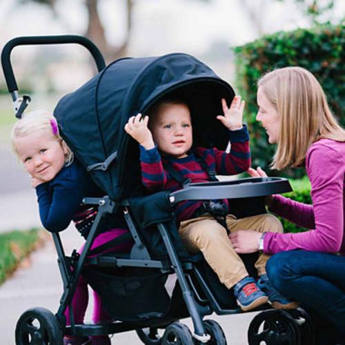 Joovy Caboose Graphite Tandem Stand-On Stroller - Amber