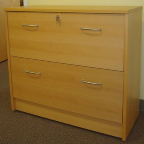 Wildon Home 2-Drawer File Cabinet; Beech
