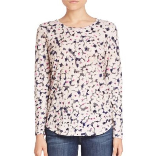 REBECCA TAYLOR Long Sleeve Floral Printed Top