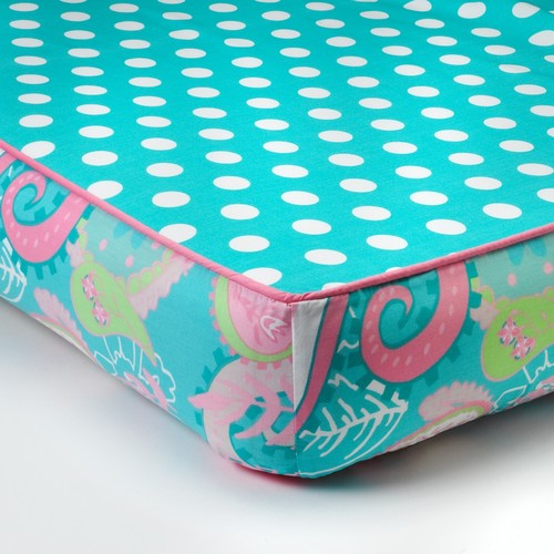 My Baby Sam Pixie Baby Aqua Paisley Crib Sheet