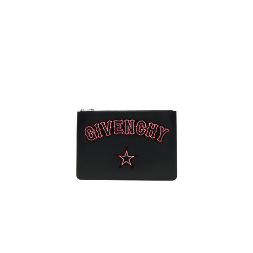 Givenchy Large Gothic Logo Pouch in Black