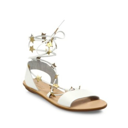 LOEFFLER RANDALL Starla Star-Detail Leather Lace-Up Sandals