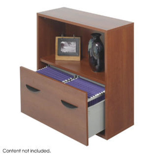 Safco Products Apres Modular Storage Shelf with Lower File Drawer Finish: Cherry - SAF9445MH