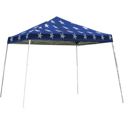 ShelterLogic 12' x 12' Slant Leg Pop-up Canopy with Black Roller Bag, Super Star Cover