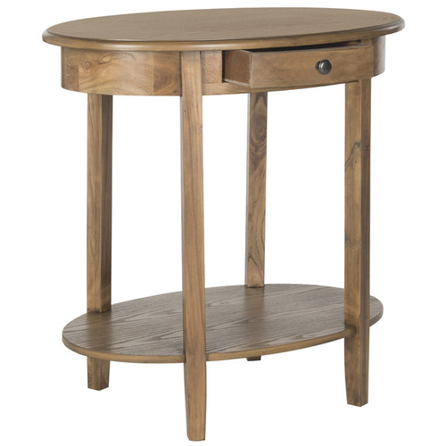 Safavieh Monica Oak Oval End Table