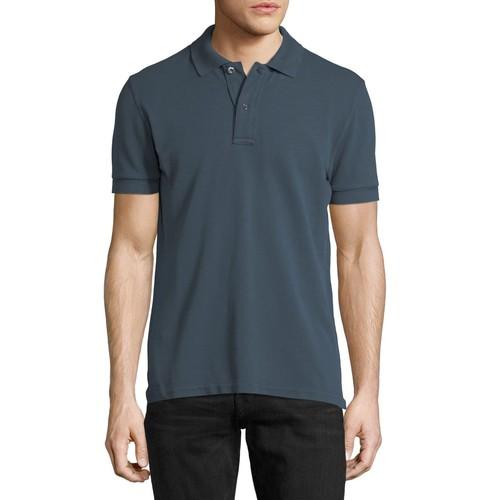 TOM FORD Tennis Pique Polo Shirt, Slate Blue
