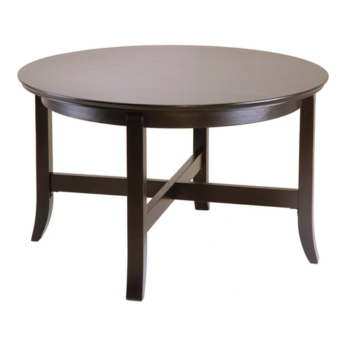 Winsome Wooden Toby Round Coffee Table with Flared Legs - Coffee Table