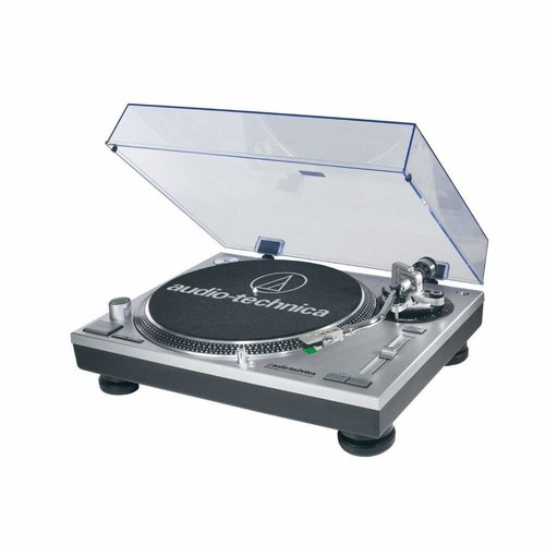 Audio-Technica AT-LP120-USB Direct-Drive Professional Turntable in Silver [AT-LP120-USB Turntable]