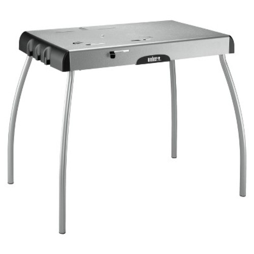 Weber Portable Charcoal Grill Table - Silver