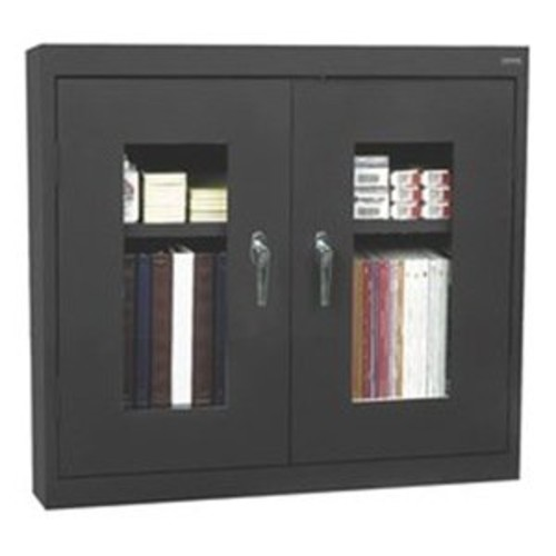 Clear View 2 Door Storage Cabinet Color: Black