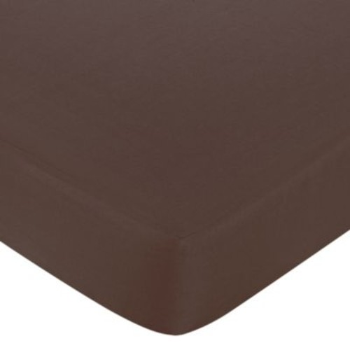 Sweet Jojo Designs Designer Dot Fitted Crib Sheet in Chocolate