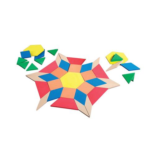 Learning Resources Giant Foam Floor Pattern Blocks 49 Pcs