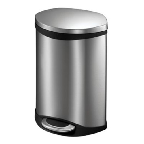 EKO Hands-Free Shell 1.5 Gallon Step-On Stainless Steel Trash Can