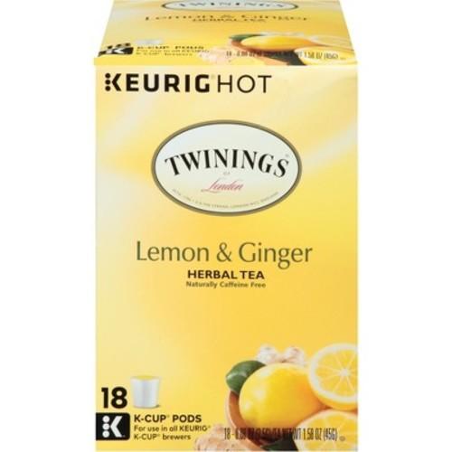 Twinings Lemon & Ginger Herbal Tea K-Cup Pods - 18ct