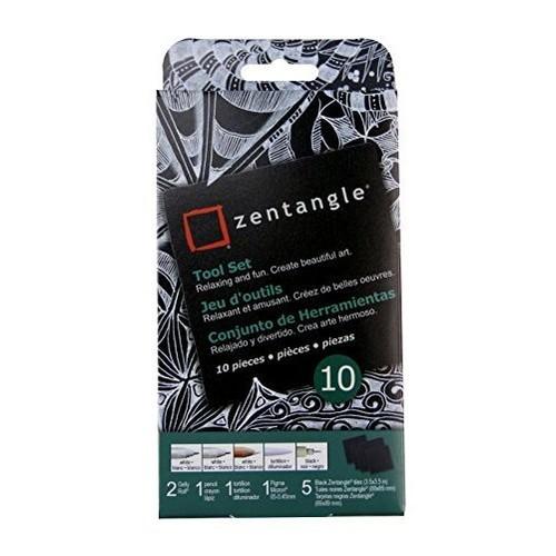 Zentangle Tool Set, 10pc, Black Tiles