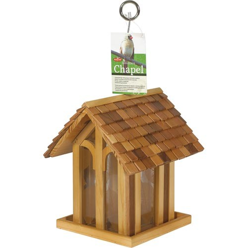 Perky-Pet Wild Bird 3.5 lb. Cedar Hopper Mountain Chapel Seed Feeder(50172)