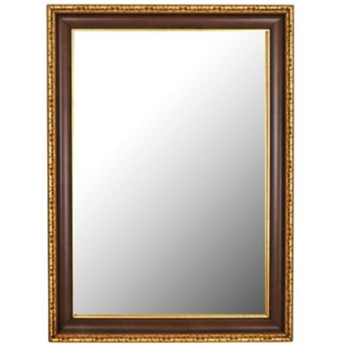 Second Look Mirrors Chateau Antique Cherry Gold Accents Wall Mirror; 67'' H x 31'' W