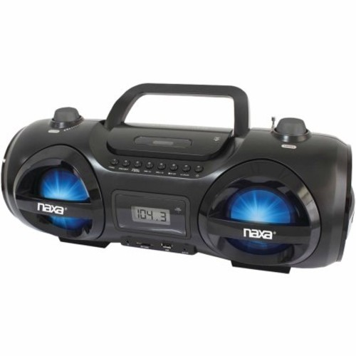 NAXA NPB-258 CD/MP3 PARTY BOOM BOX and USB/SD(TM) CARD PLAYER
