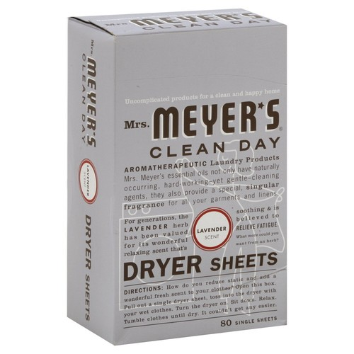 Mrs. Meyer's Clean Day Dryer Sheets, Lavender, 80 Count [Lavender]