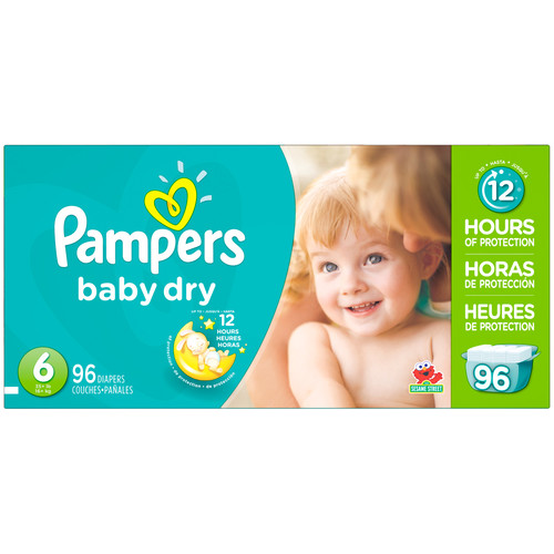 Pampers Baby Dry Diapers (see all sizes) [Number Included : 78]