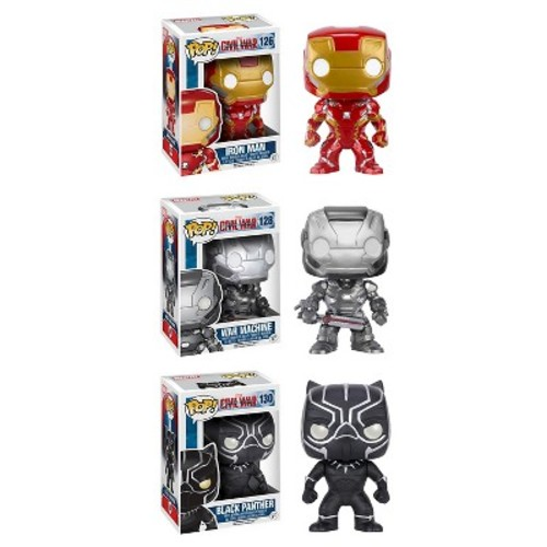 Funko Captain America: Civil War POP! Marvel Collectors Set: Iron Man, War Machine and Black Panther