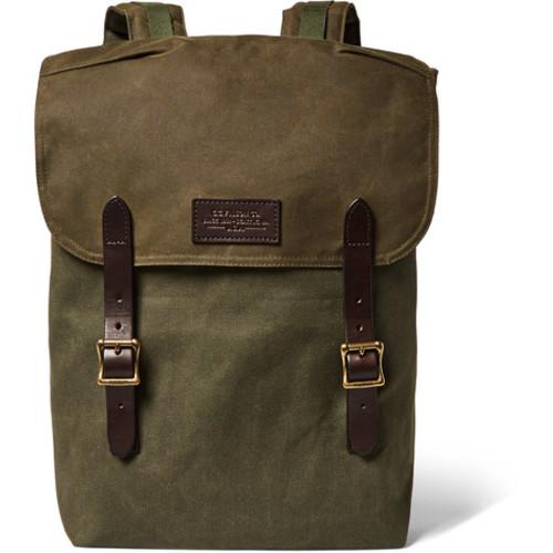 Filson - Ranger Leather-Trimmed Twill Backpack