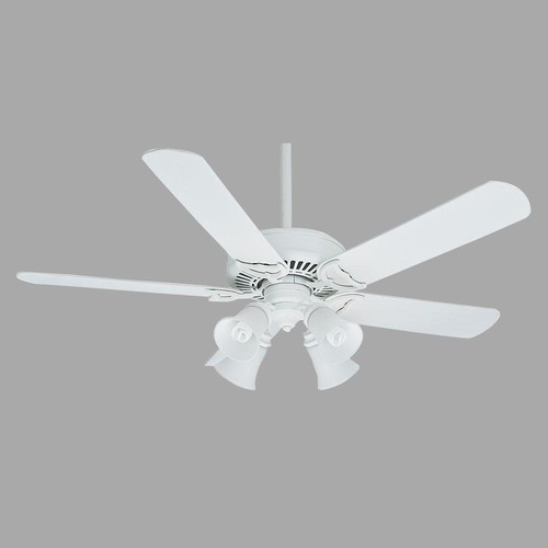 Casablanca 55058 54 in. Panama Gallery Architectural White Ceiling Fan with Light and Remote