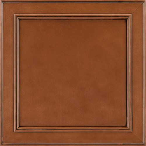 American Woodmark 14-9/16x14-1/2 in. Cabinet Door Sample in Brookland Maple Auburn Glaze