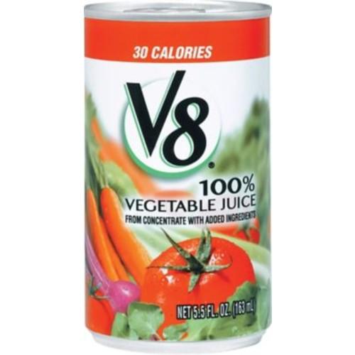 V8 100% Vegetable Juice, 5.5 oz. Cans, 48/Case