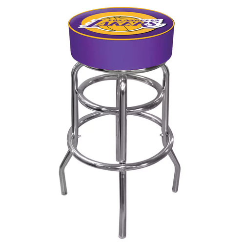 Los Angeles Lakers Padded Swivel Bar Stool