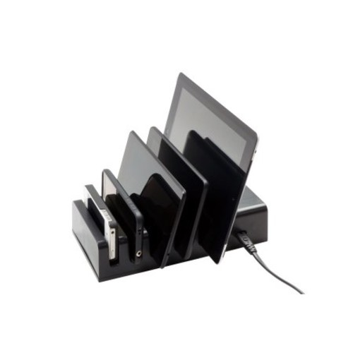 VisionTek 5 Device Charging Station - Power adapter - 5 output connectors (USB (power only))