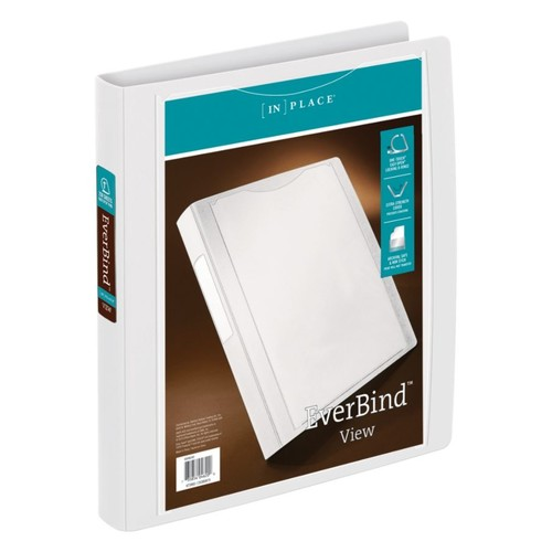 Office Depot Brand INPlace EverBind D-Ring View Binder, 1