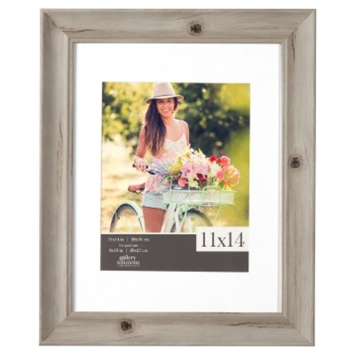 Single Image Frame Whitewash Scoop Mat (8X10)