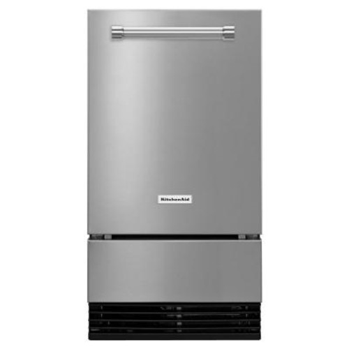 KitchenAid 18 in. 51 lbs. Built-In or Freestanding Ice Maker in Stainless Steel
