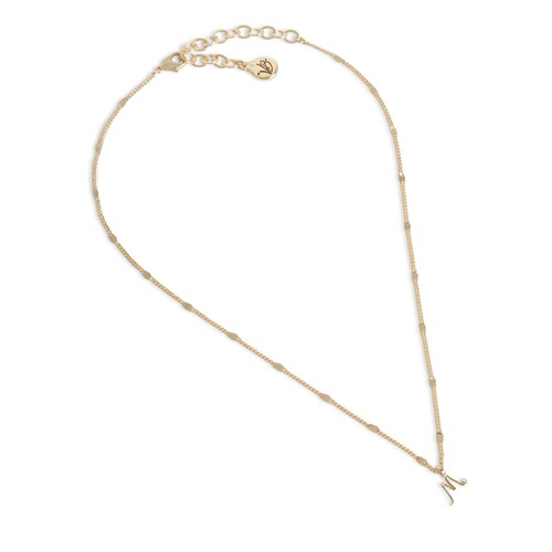 Script Initial Necklace in Gold Tone