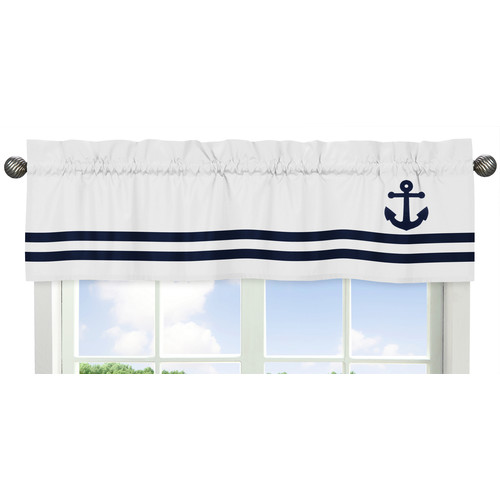 Sweet Jojo Designs Anchors Away Collection Window Valance by