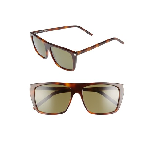 SAINT LAURENT Avana 56Mm Flat Top Sunglasses