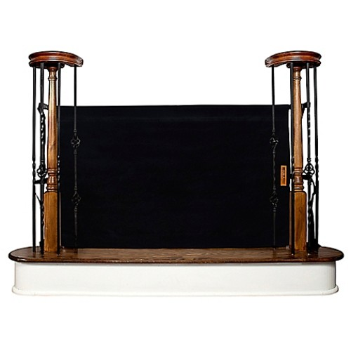 The Stair Barrier 36-Inch to 42-Inch Banister to Banister Indoor/Outdoor Gate in Black