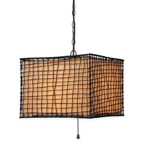 Kenroy Home Trellis 1-Light Pendant in Bronze