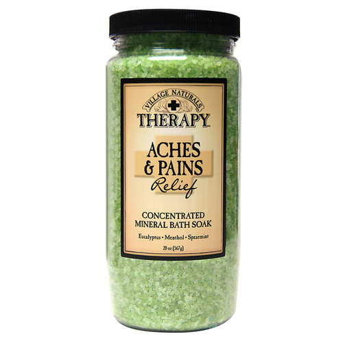 Village Naturals Therapy Mineral Bath Soak Aches & Pains Relief