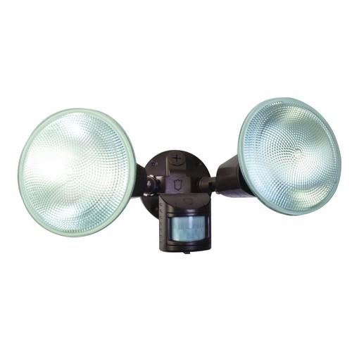 Designer's Edge L5999BR 110-Degree Twin Motion Activated Flood Light, Bronze