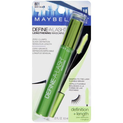 Maybelline New York Define-A-Lash Lengthening Mascara Washable, Very Black