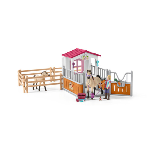 Schleich Horse Stall with Arabian Horses and Groom Set