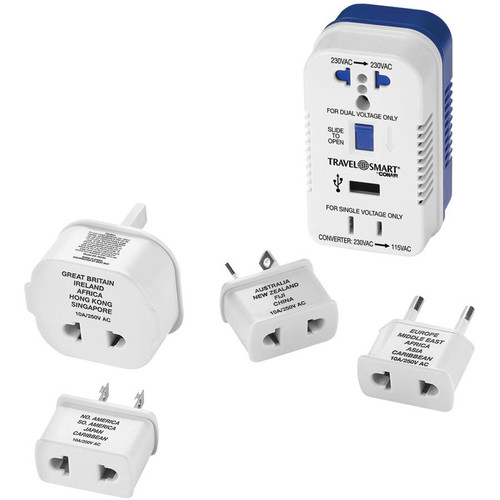 Travel Smart By Conair Ts703crn 2-outlet, 1,875-watt Converter For Single- and Dual-voltage Appliances