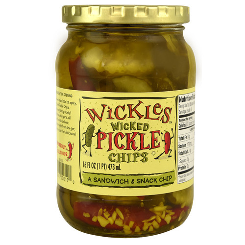 Wickles Wicked Pickle Chips -- 16 fl oz