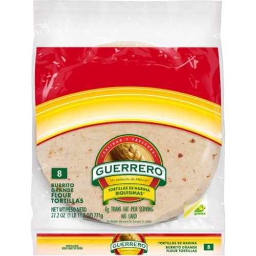 Guerrero Burrito Grande Flour Tortillas 8 ct