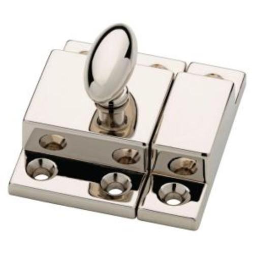 Martha Stewart Living 2 in. Polished Nickel Matchbox Door Latch