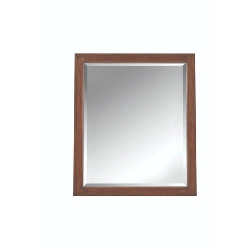 Home Decorators Collection Manor Grove 28 in. W x 33 in. H Framed Wall Mirror in Tobacco